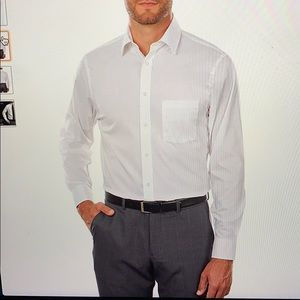 ARROW WHITE MENS FITTED BUTTON UP SHIRT